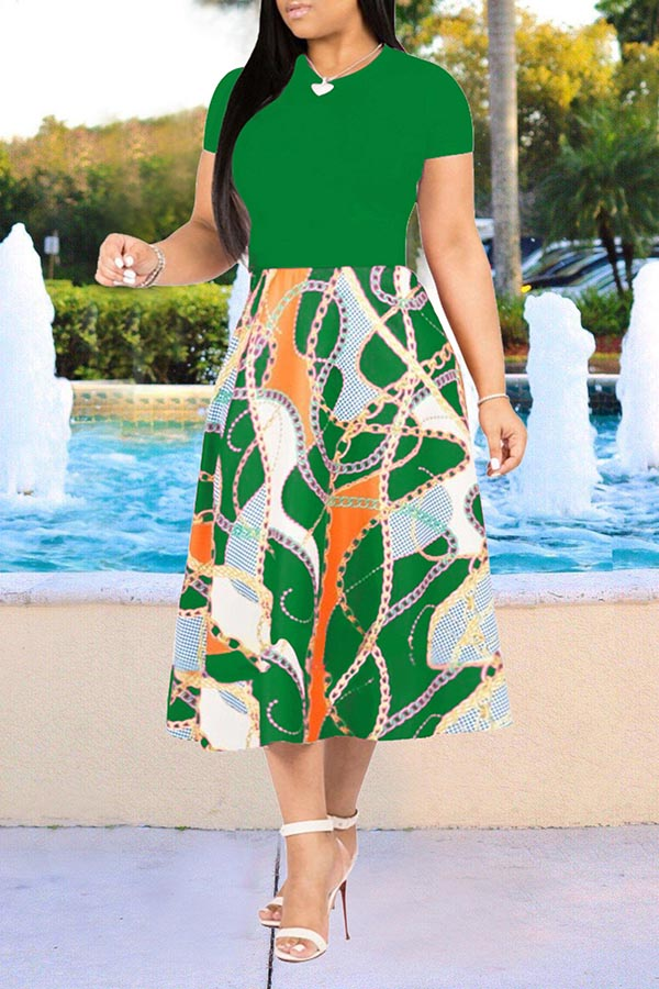 Fashion Print Swing Dress