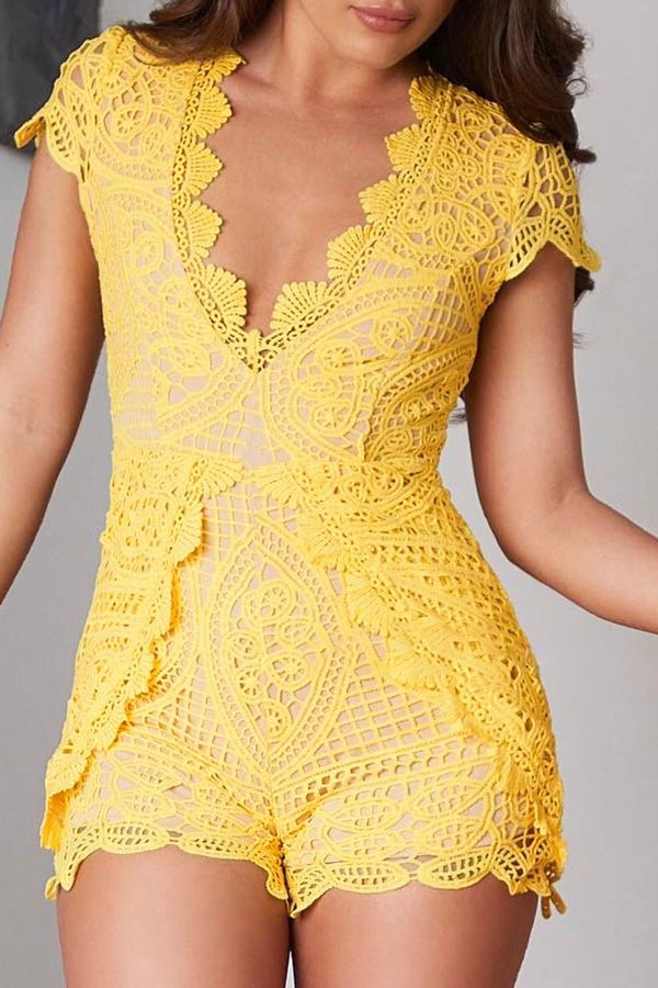 Slim Fit Lace Romper