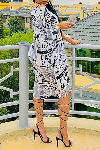 Newspaper Print Dress