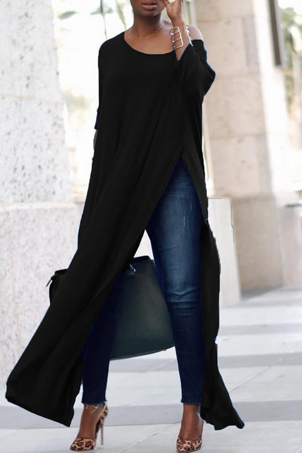 High Slit Pants Dress