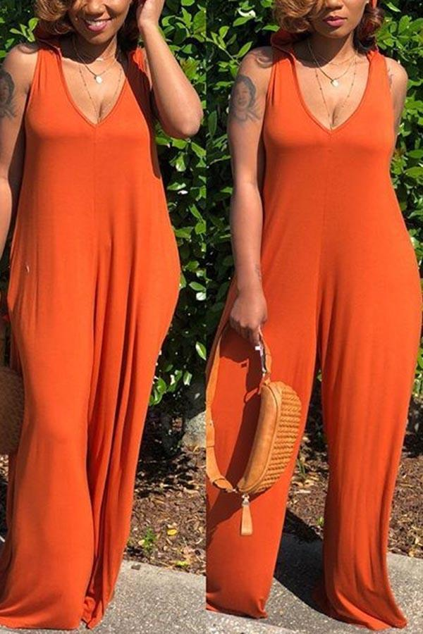 Loose Hooded Jumpsuit