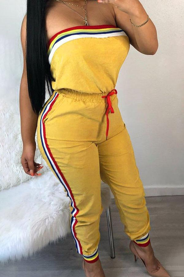 Lemon Bandeau Jumpsuit