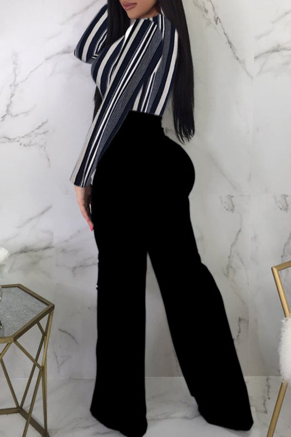 Sexy Long-sleeved Waist Lace-up Jumpsuit
