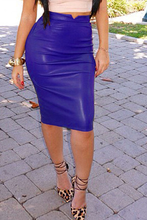 Solid Color Slim Skirt