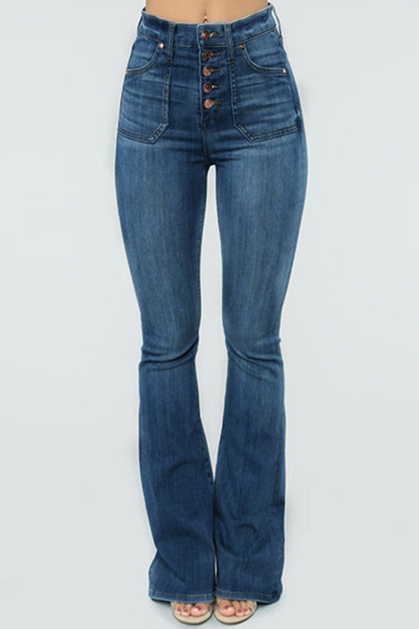 SkinnyStudded Buckle Jeans