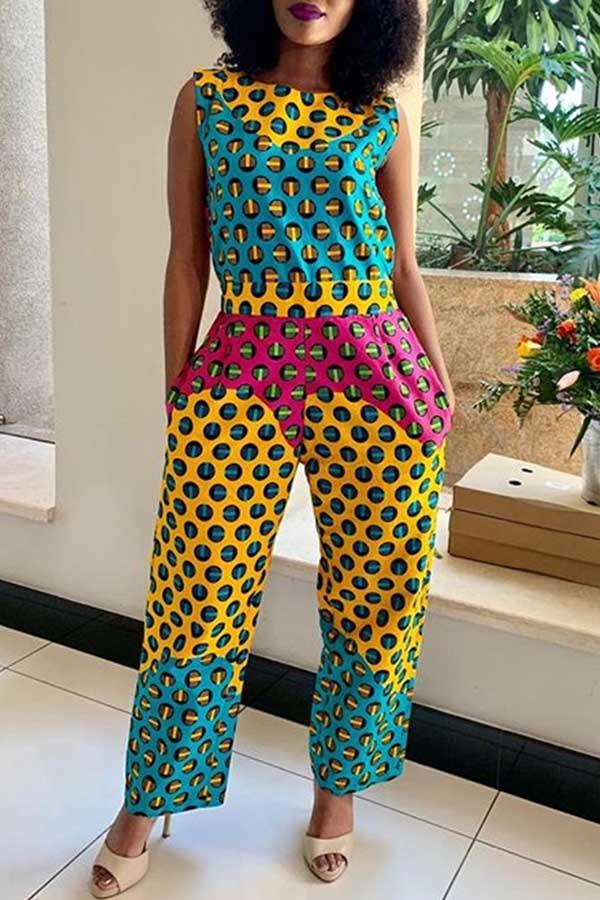 Circle Print Jumpsuit