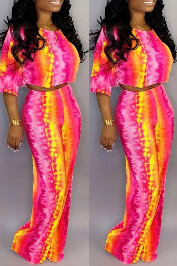Digital Printed Trousers Two-Piece Set