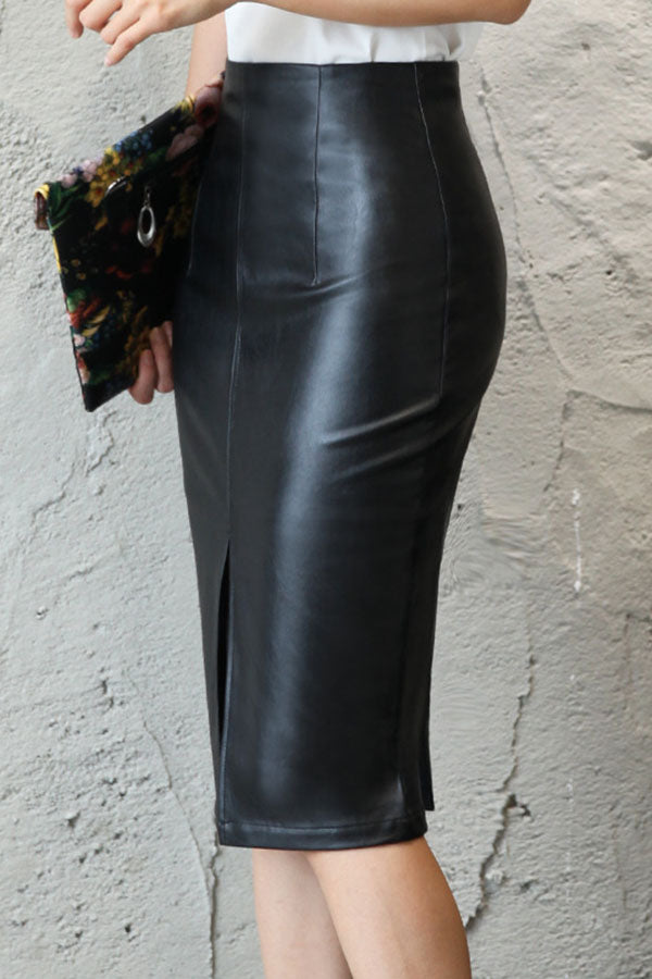 High Waist Open Forehead Skirt