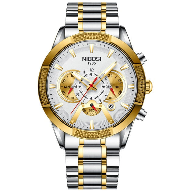 NIBOSI Chronograph Men  Stainless Steel Watches - Urban Fashion King
