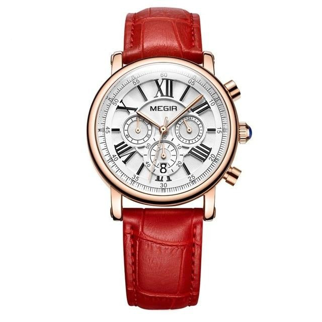 MEGIR  Women's Watches Roman Numerals Watch - Urban Fashion King