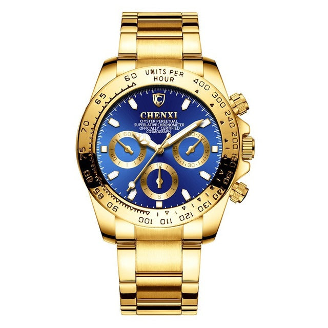 CHENXI Gold Men's Wristwatch Black Dial - Urban Fashion King