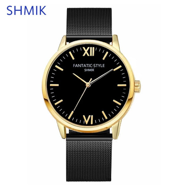 Stainless Steel Mesh Wristwatch - Urban Fashion King