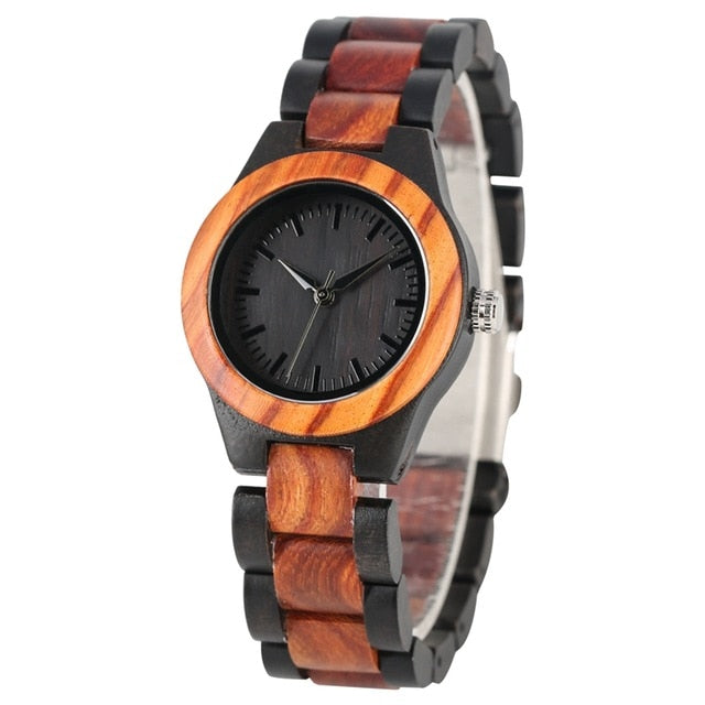 Sapphire Blue Face Wooden  Women's Watches - Urban Fashion King