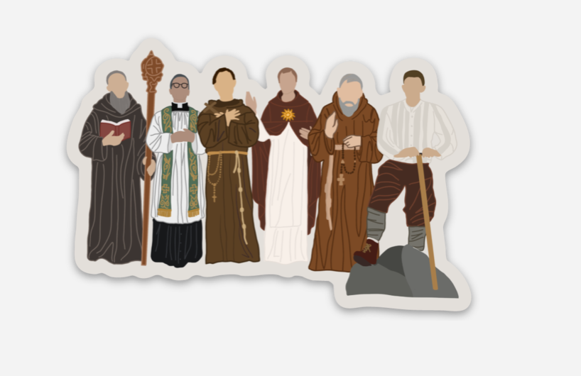 Male Saints Sticker
