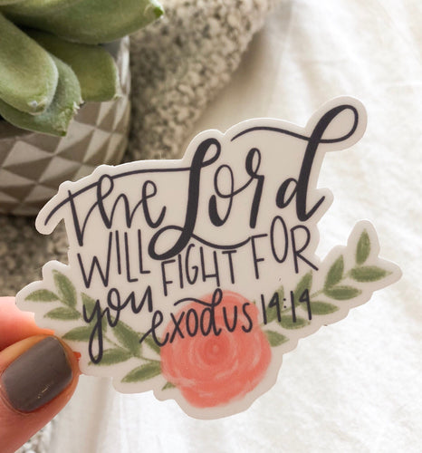 Exodus 14:14 sticker
