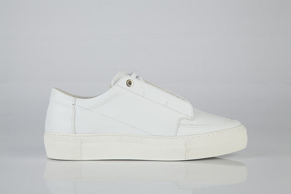 TER low trainer with laces WHITE