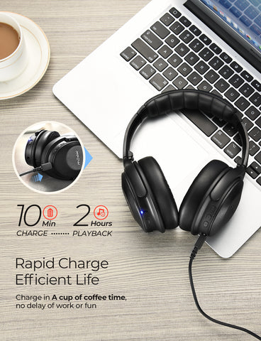 Mpow H17 Fast-Charging Battery Life Headphones
