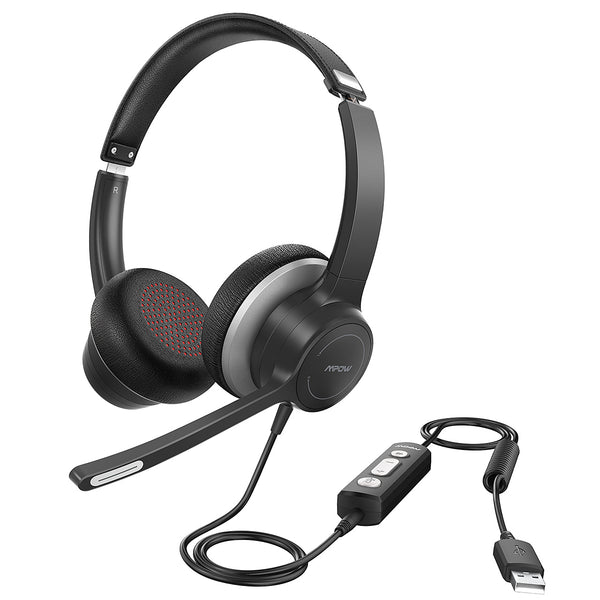 Mpow HC6 USB Headset w/ Microphone for Skype, Webinar