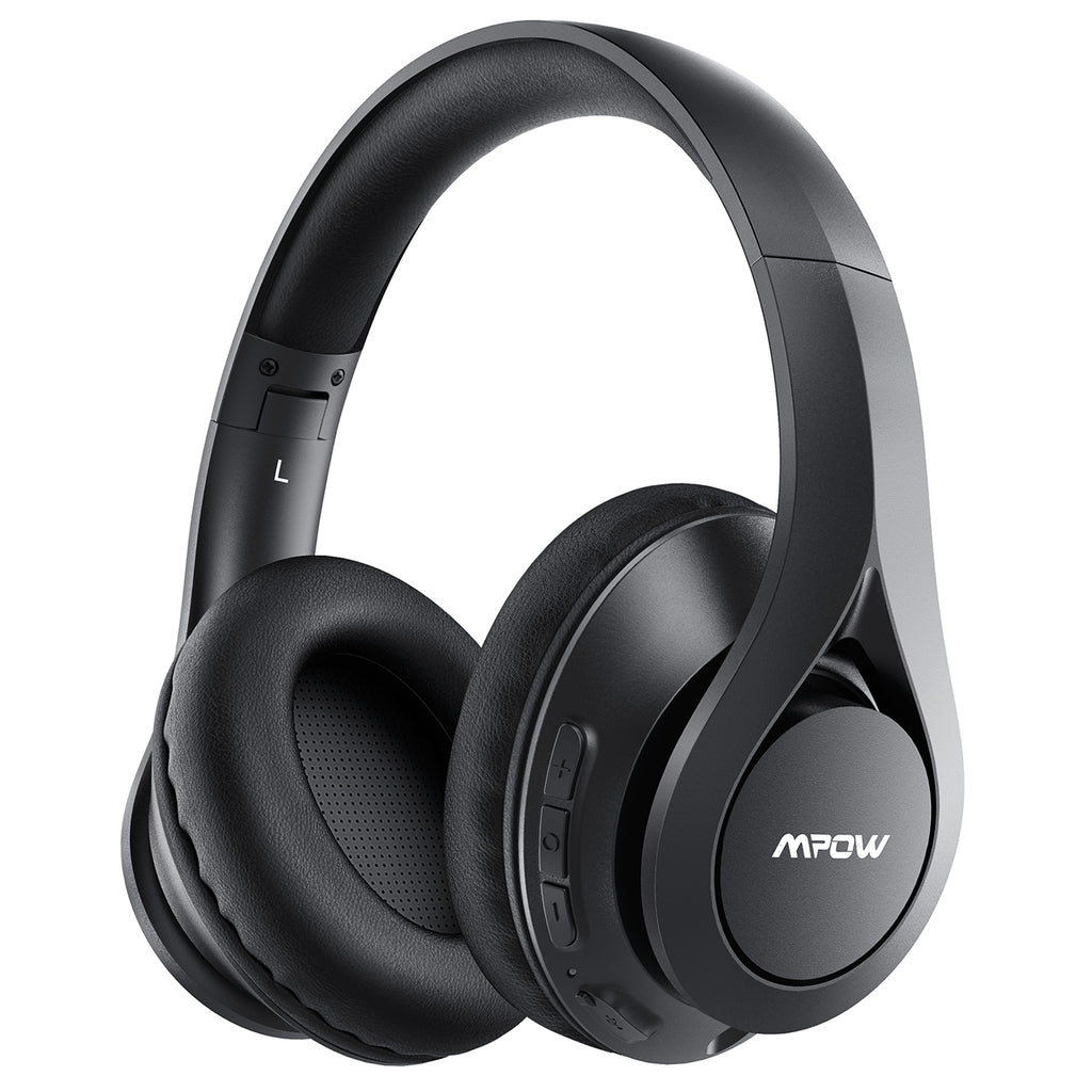 Mpow 60Hrs Bluetooth Headphones Over Ear, Hi-Fi Stereo Bass Wireless Headphones with Mic, Foldable Headset with Soft Memory Foam Earmuffs, Bluetooth 5.0 & Wired Mode for Work Travel Cellphone PC TV