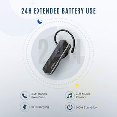 MPOW EM18 Bluetooth 5.0 Headset V5.0 with 2 Noise Cancelling Mics cVc 8.0