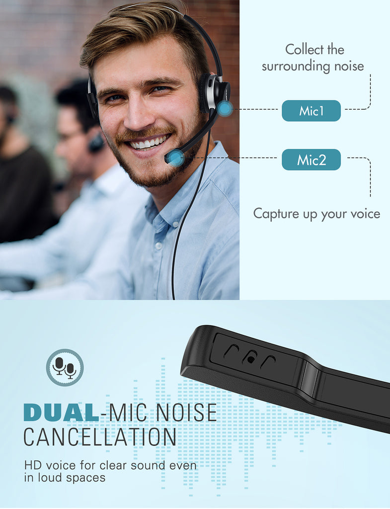 Mpow Bluetooth Headset V5.0  (Black)