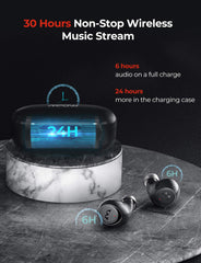 Mpow M7 True Wireless Earbuds with Deep Bass, L/R Mono/Stereo Modes