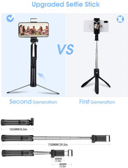 MPOW PA168A Selfie Stick with Fill Light