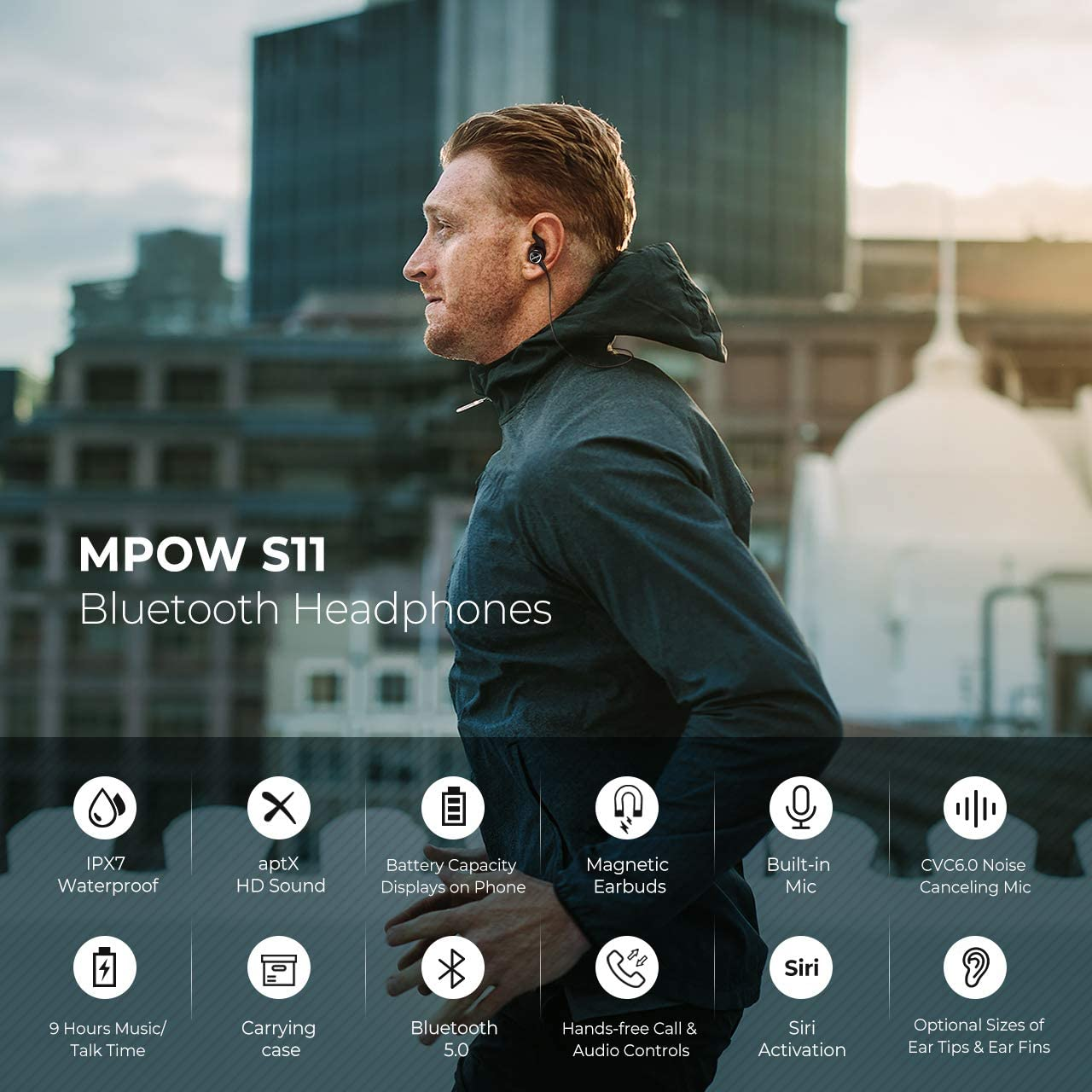 Mpow S11 Sport Wireless Earphones
