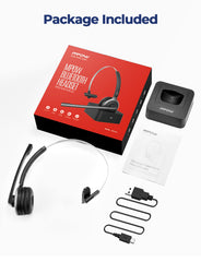 Mpow M5 Pro Bluetooth Headset with Microphone (Black)