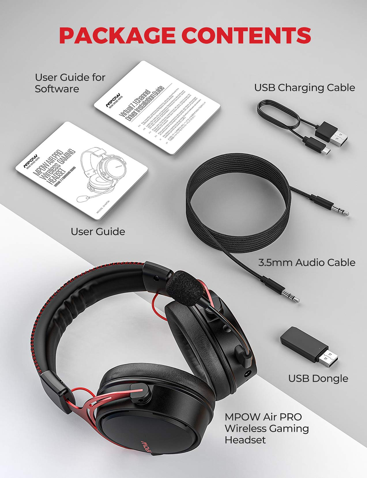 Mpow Air Pro 2.4G Wireless Gaming Headset
