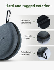 Mpow Headphone Carrying Case Grey