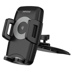 MPOW M3.1 Dual Sided Grip CD Slot Phone Mount with Qi Wireless Charging