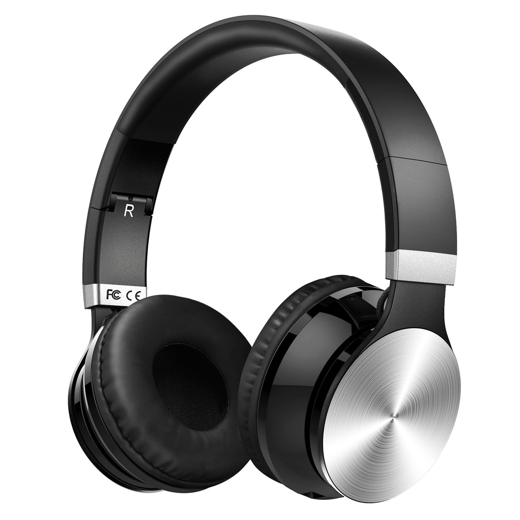 Mpow Headphones Wireless Over Ear, Bluetooth Headphones with Hi-Fi Stereo, Lightweight Foldable Headsets with Soft Protein Earpads, Wired and Wireless Headphones with Mic for PC Cellphone Laptop TV