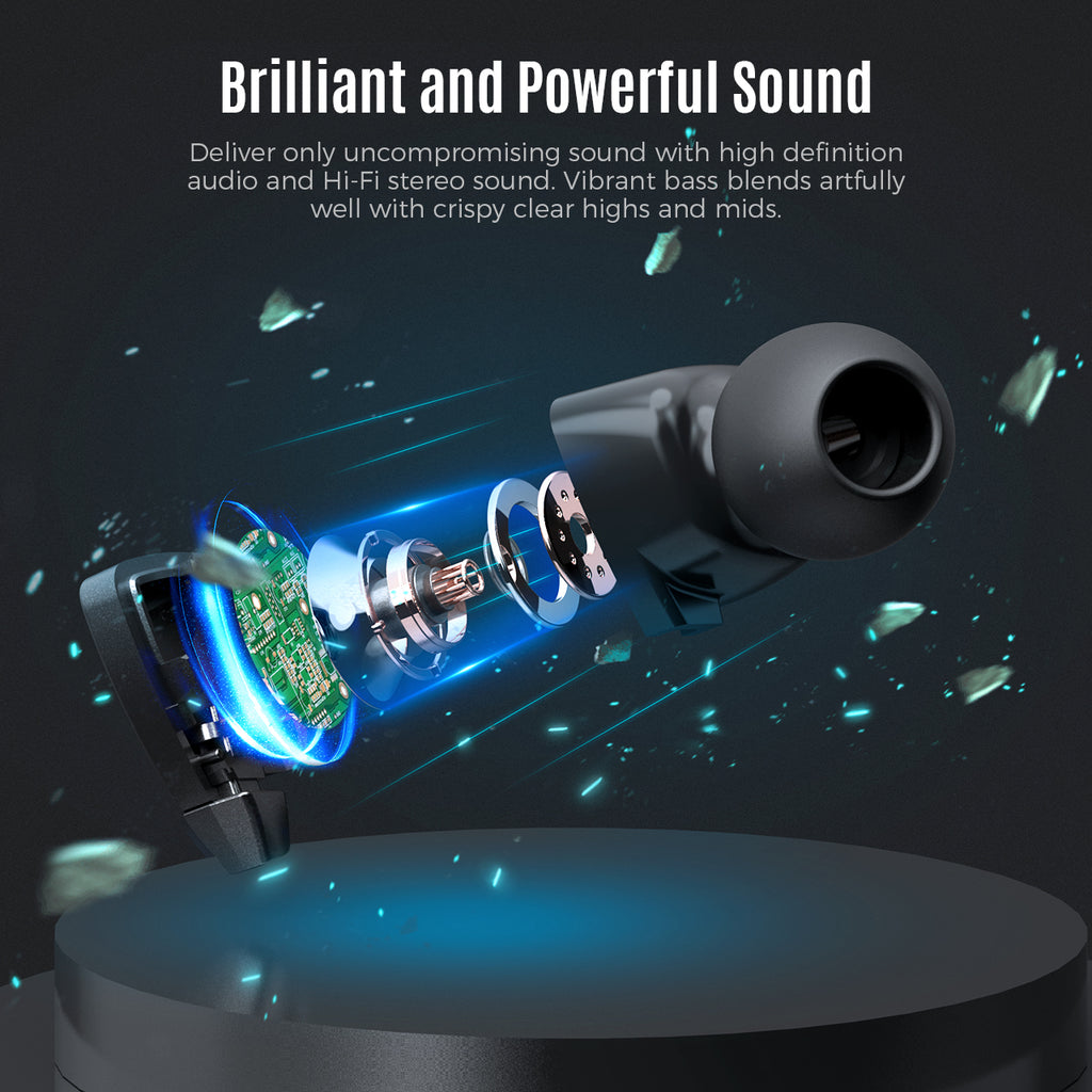 Mpow Jaws Gen-5 Neckbarand Wireless Earphones con Bass boosted