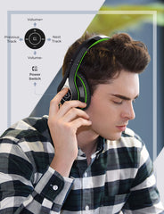 Mpow 059 Bluetooth Headphones Over Ear (Black Green)