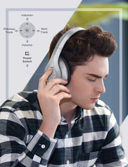 Mpow 059 Bluetooth Headphones Over Ear (Silver)