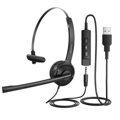 Mpow Single-Sided USB Headset with Microphone