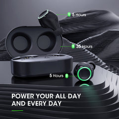 MPOW T6 True Wireless Earbuds with 40 Hours of Playback, Touch Control