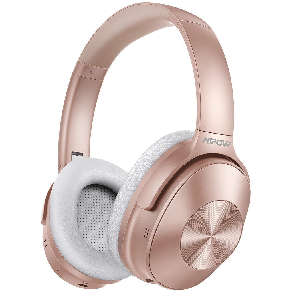 Mpow H12 Noise Cancelling Headphones (Rose Pink)