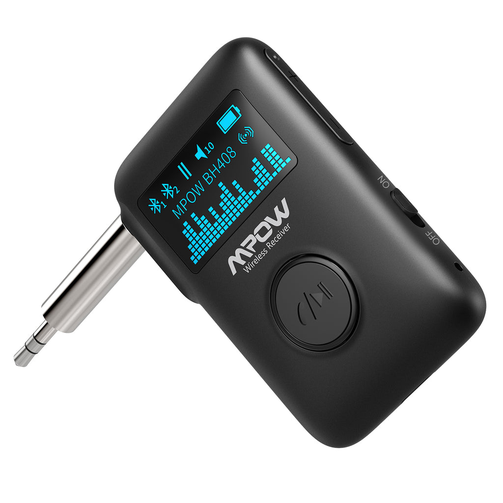 MPOW BH408A Bluetooth 5.0 Receiver for Music Streaming with the Display Screen