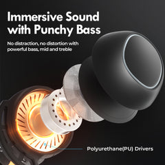 Mpow M30 Plus with 100 Hours of Battery Life, Punchy Bass