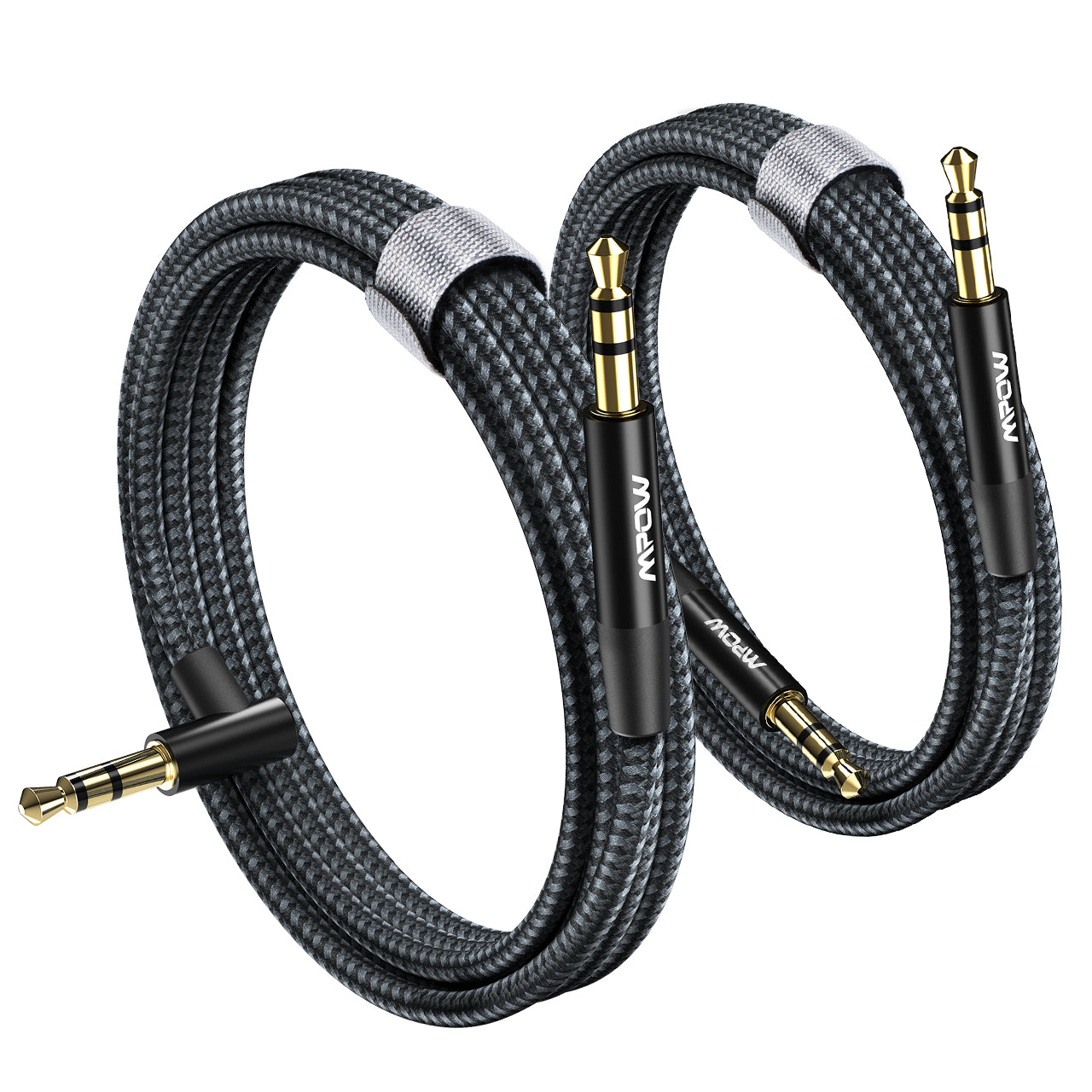 MPOW BH449A 3.5mm Male to Male Stereo Audio Aux Cable, 2-Pack