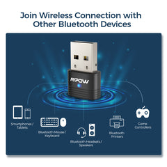 Mpow BH456A Bluetooth 5.0 USB Adapter for PC