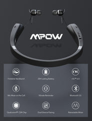Mpow Wings Foldable Wireless Neckband Headset