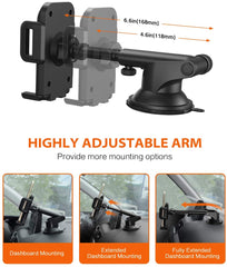 MPOW CA032E Car Phone Mount with Extendable Arm and Sticky Suction Cup