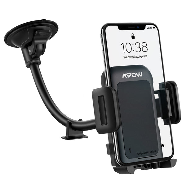 Mpow CA033C Car Phone Mount for Windshield, With Long Arm