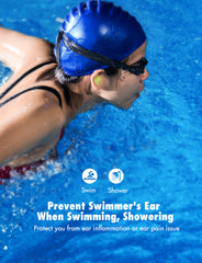 MPOW HP109A Swimming Earplugs 10 Pairs for Adults, Includes Portable Cases