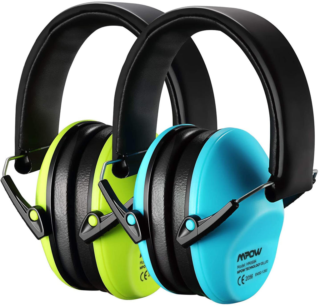 MPOW HP111A Kids Safety Earmuffs, 2 Pack, NRR 25dB Noise Reduction