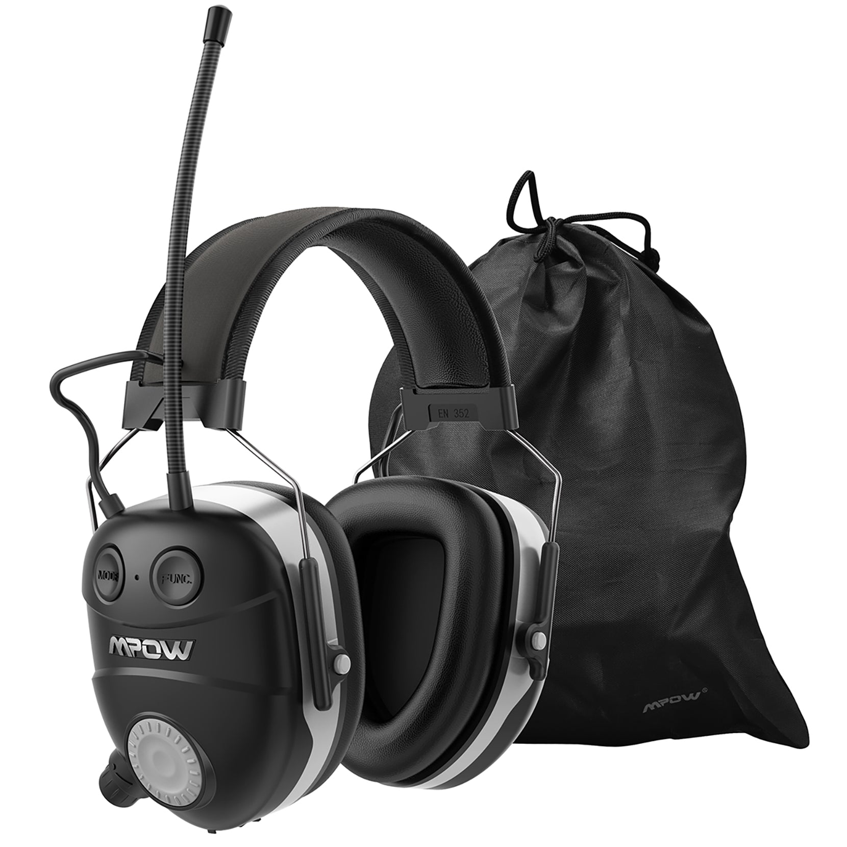 MPOW HP119A AM/FM Radio Ear Protection with Bluetooth Technology