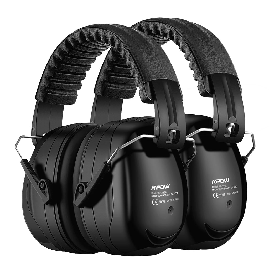 MPOW HP120A Ear Protection 2 Packs, NRR 28dB, Carrying Bag Included